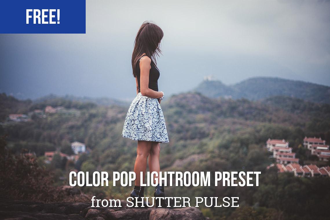 Free Color Pop Lightroom Preset