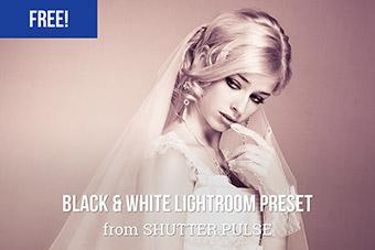 Evening Black & White Lightroom Preset