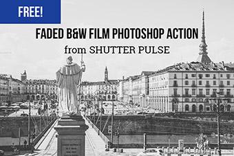 Faded Black & White Film Photoshop Action