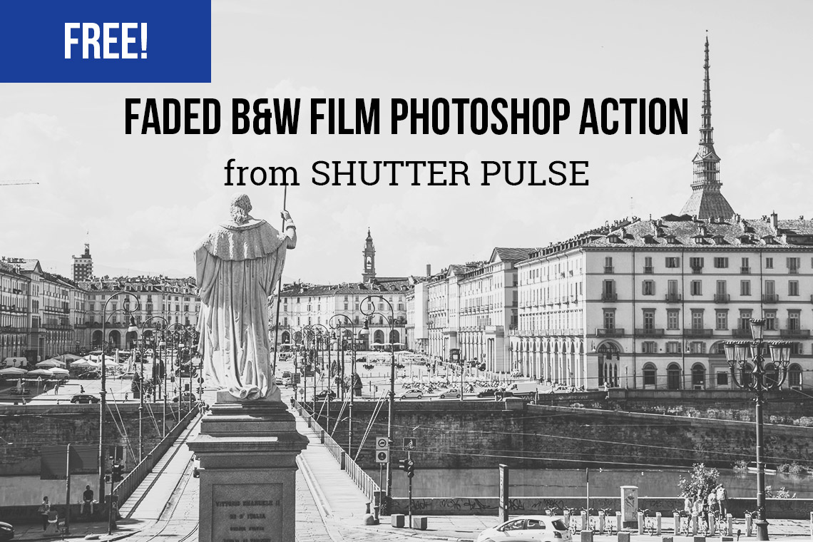 Free Faded B&W Film Photoshop Action