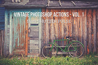 Vintage Photoshop Actions - Vol. 1