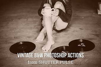 Vintage Black & White Photoshop Actions