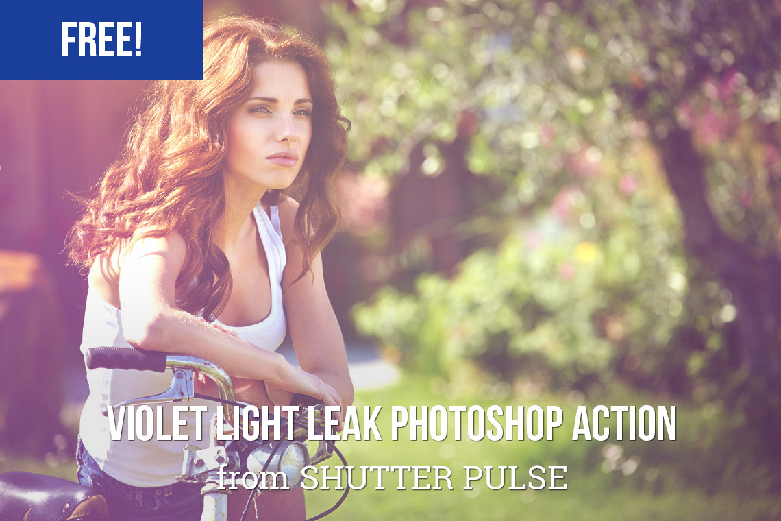 Free Violet Light Leak Photoshop Action