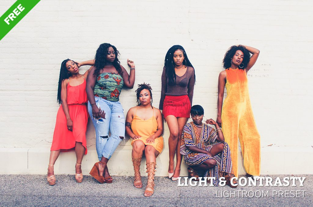 Free Light & Contrasty Lightroom Preset